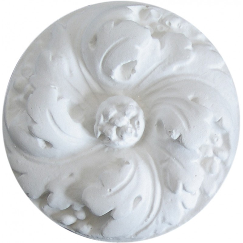 Ornement 285 Grand bouton floral rond