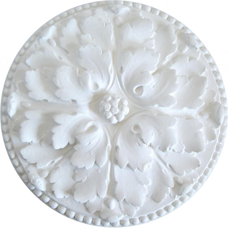 Ornement 295a Bouton floral perlé
