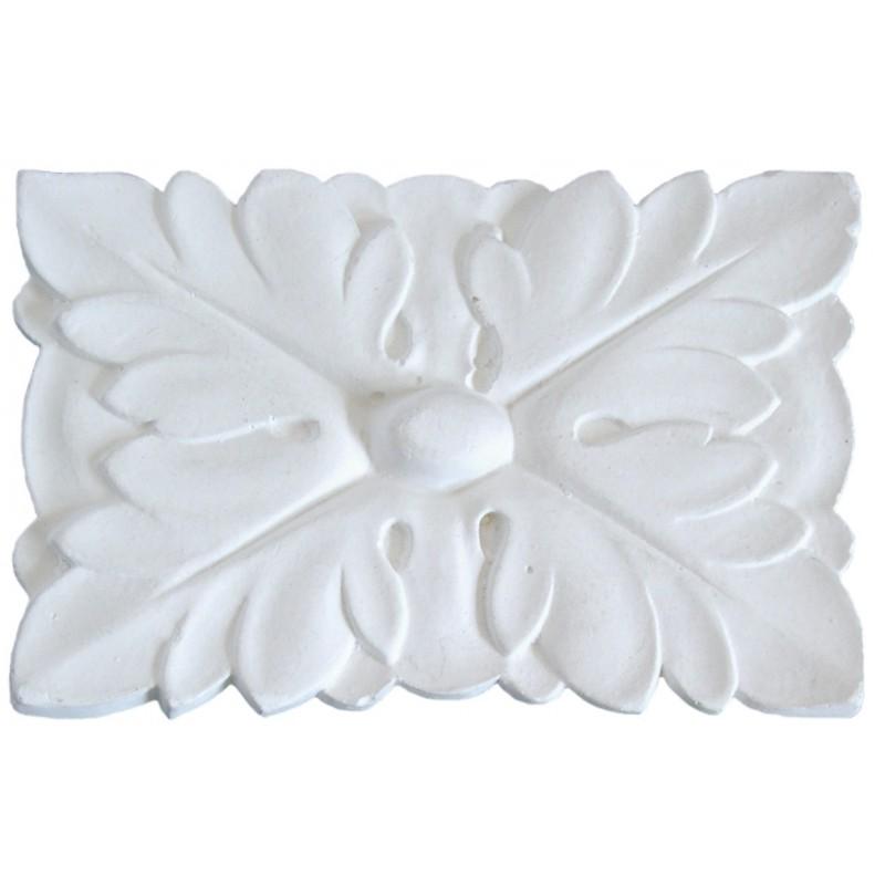Ornement 318 Bouton floral carré