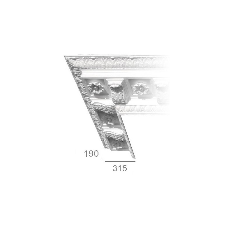 Ornamented ceiling cornice 202
