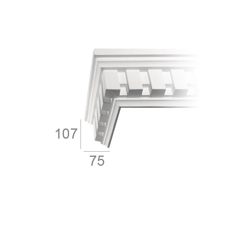 Ornamented ceiling cornice 205