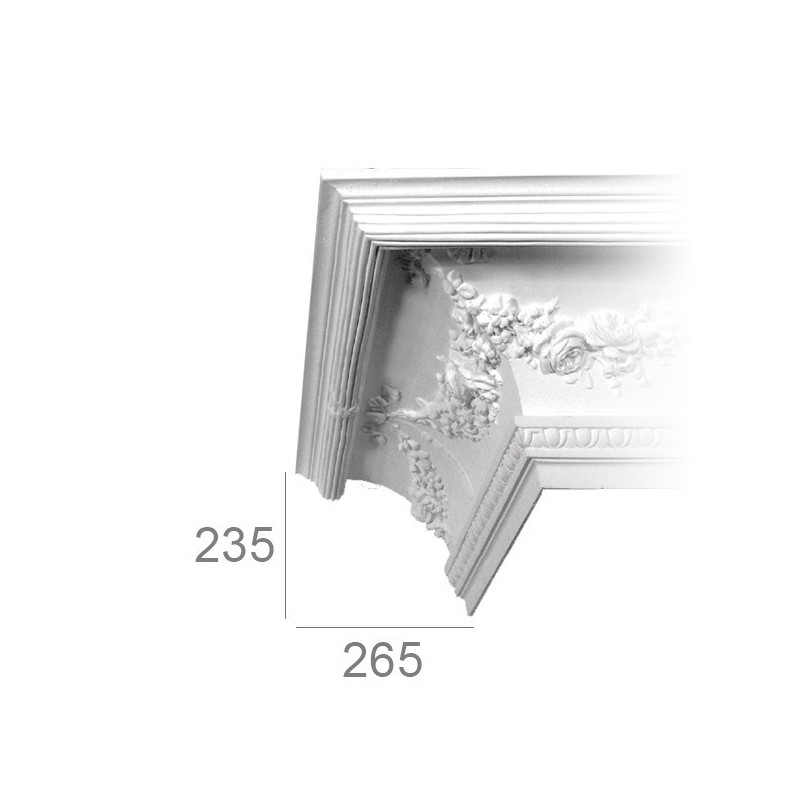 Ornamented ceiling cornice 422