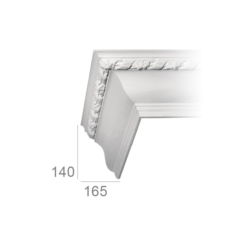 gipsum cornice with flower 190