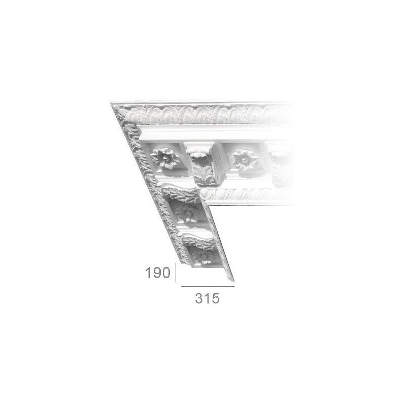Ornamented ceiling cornice 202