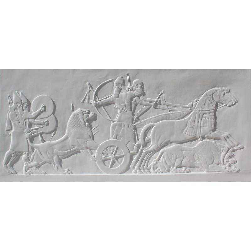 """Bas-relief 1004 """"La chasse aux lions"""""""